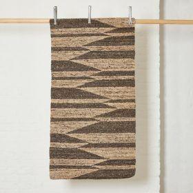 Zig Zag Wool Rug (Grey) by Rachel Scott; British rug maker.
