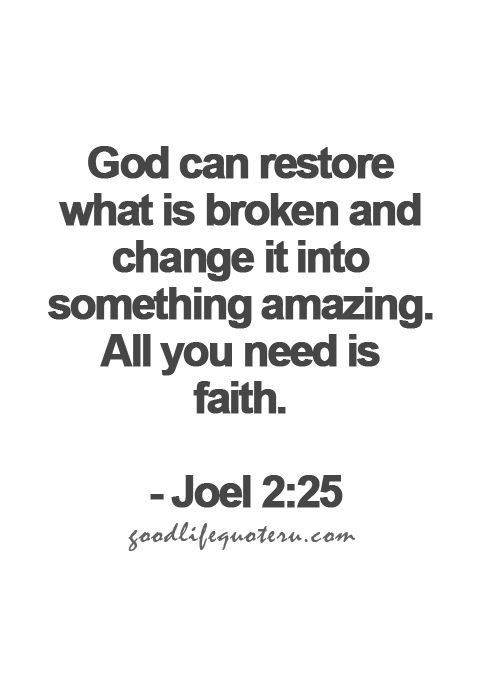 God can restore what is broken and change it into something amazing