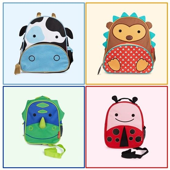 Animal themed Kids Backpacks from www.kidly.co.uk From £18 -£20 Love these! Cow, Hedgehog, Dinosaur, Ladybird & More