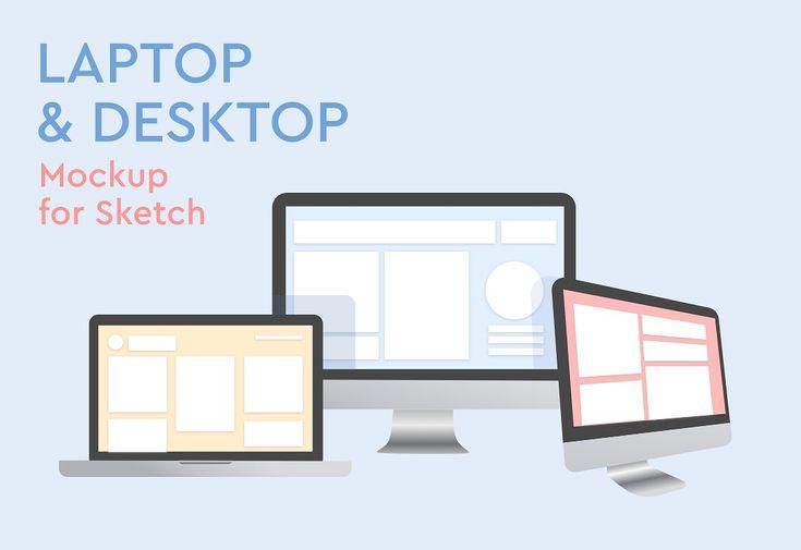 Laptop And Desktop Mockup For Sketch Mockup Mockup Design Business Card Logo