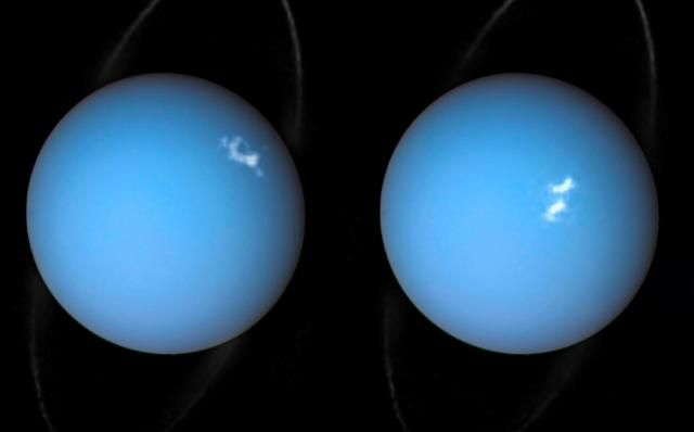 Tonight, as the calendar flips from 10/18 to the 19th, Uranus will be in opposition to the Sun, meaning that it'll be on the opposite side of the Earth in relation to our star. That positioning will bathe Uranus in light and it should be just enough to make the distant planet visible to the naked eye.