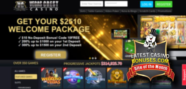 Casino of the month November - Vegas Crest Casino