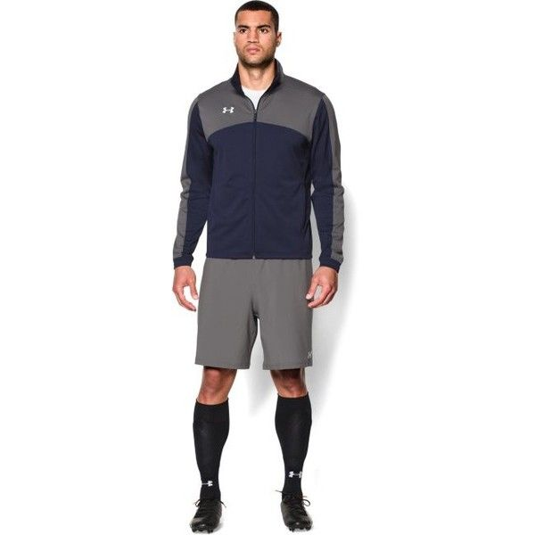 Under Armour Men's UA Futbolista Soccer Track Jacket (3,905 INR) ❤ liked on Polyvore featuring men's fashion, men's clothing, men's activewear, men's activewear jackets, mens activewear, mens track tops and mens track jacket