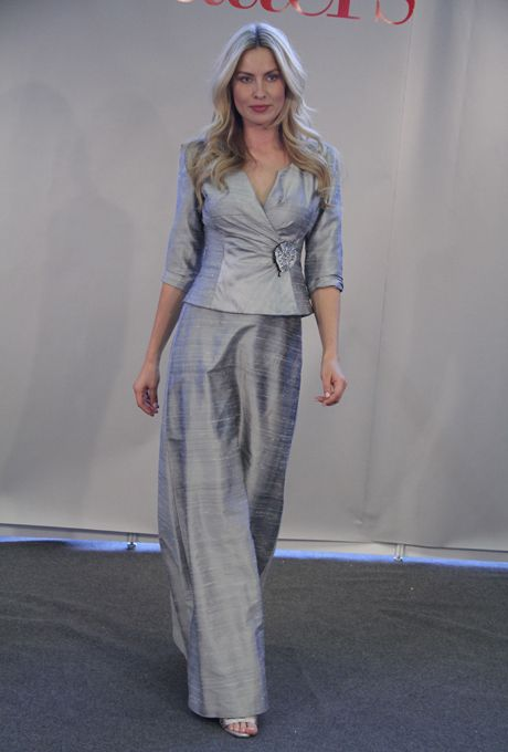 Collection 20 Fall 2012 Style 2481 Silver Silk A Line