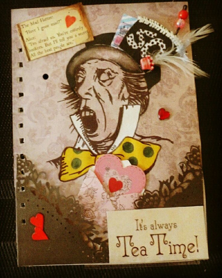 50th birthday journal page. Gouache on wallpaper,  hand made embellishments, ink and collage