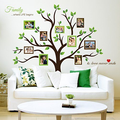 1bbbfabf39b2 Family Tree Wall Decals - Display the Entire Family on the Wall ...