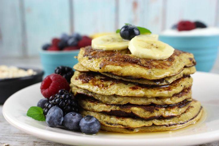 Tortitas de avena y plátano, ¡hiperproteícas y bajas en calorías!