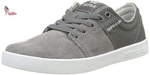Supra Chino Court, Sneakers Basses Homme, Noir (Black/White), 43 EU