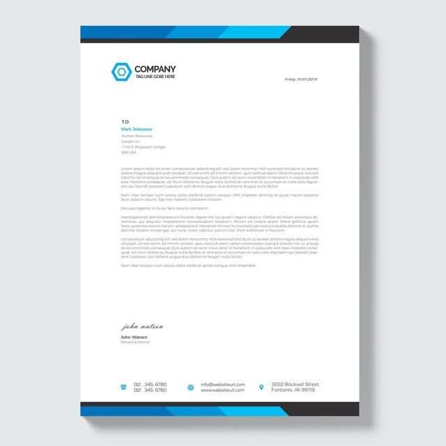 Business Letterhead Stationery Letterhead Stationery Company