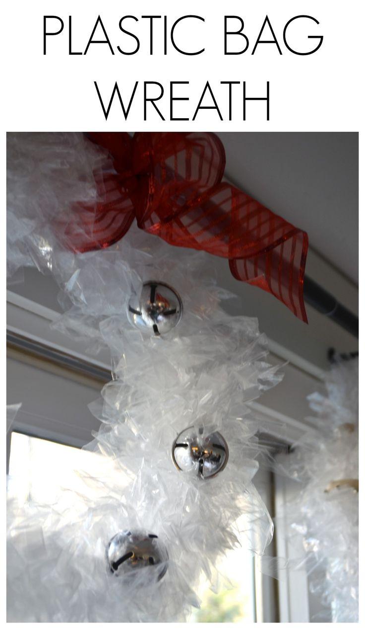 easy plastic bag wreath