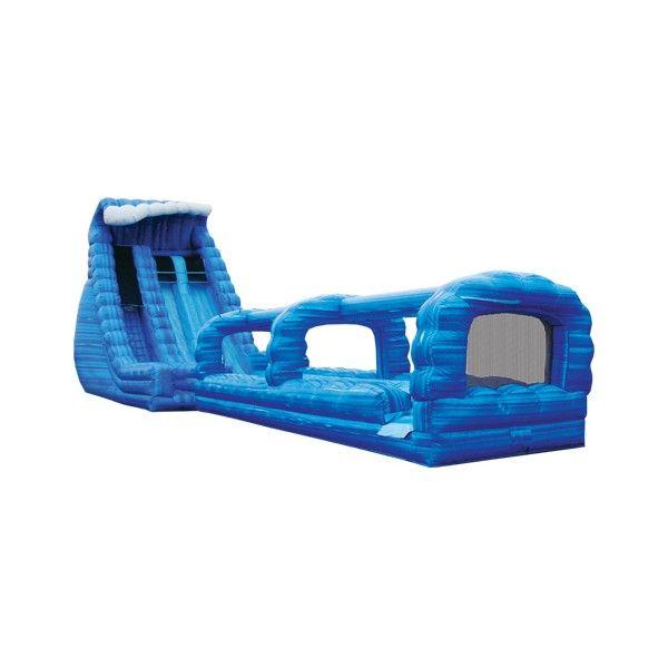22′ Blue Crush 2 Lane Run 'N' Slide Combo