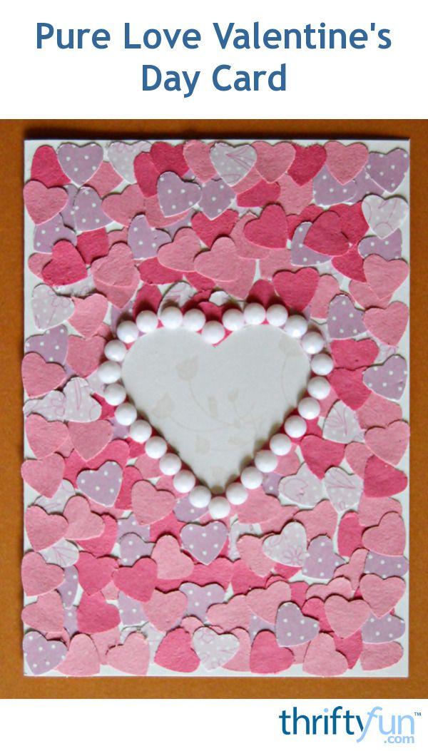 An easy, yet striking DIY Valentine's Day card.