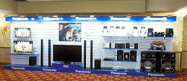 Panasonic Launch 2015 - Wall displays for audio visual products.