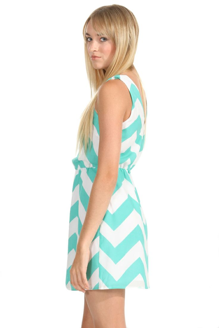 Mint Chevron Dress www.gatzino.com -  For more amazing deals visit us at http://www.brides-book.com/#!brides-book-outlets/ck9l and remember to join the VIB Ciub