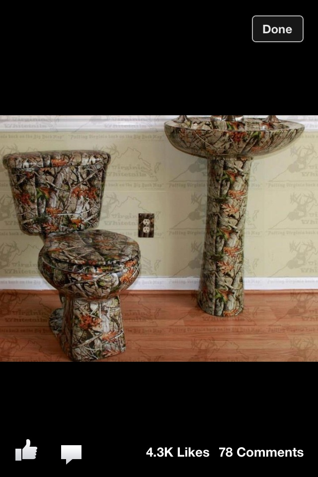 Redneck Man Cave Decor : Great idea for a man cave bathroom future house stuff