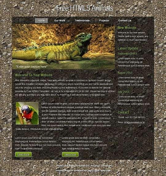 HTML5 Animals HTML Template  #Blog #Business #Nature #Personal #Portfolio Link: https://goo.gl/RVncd6