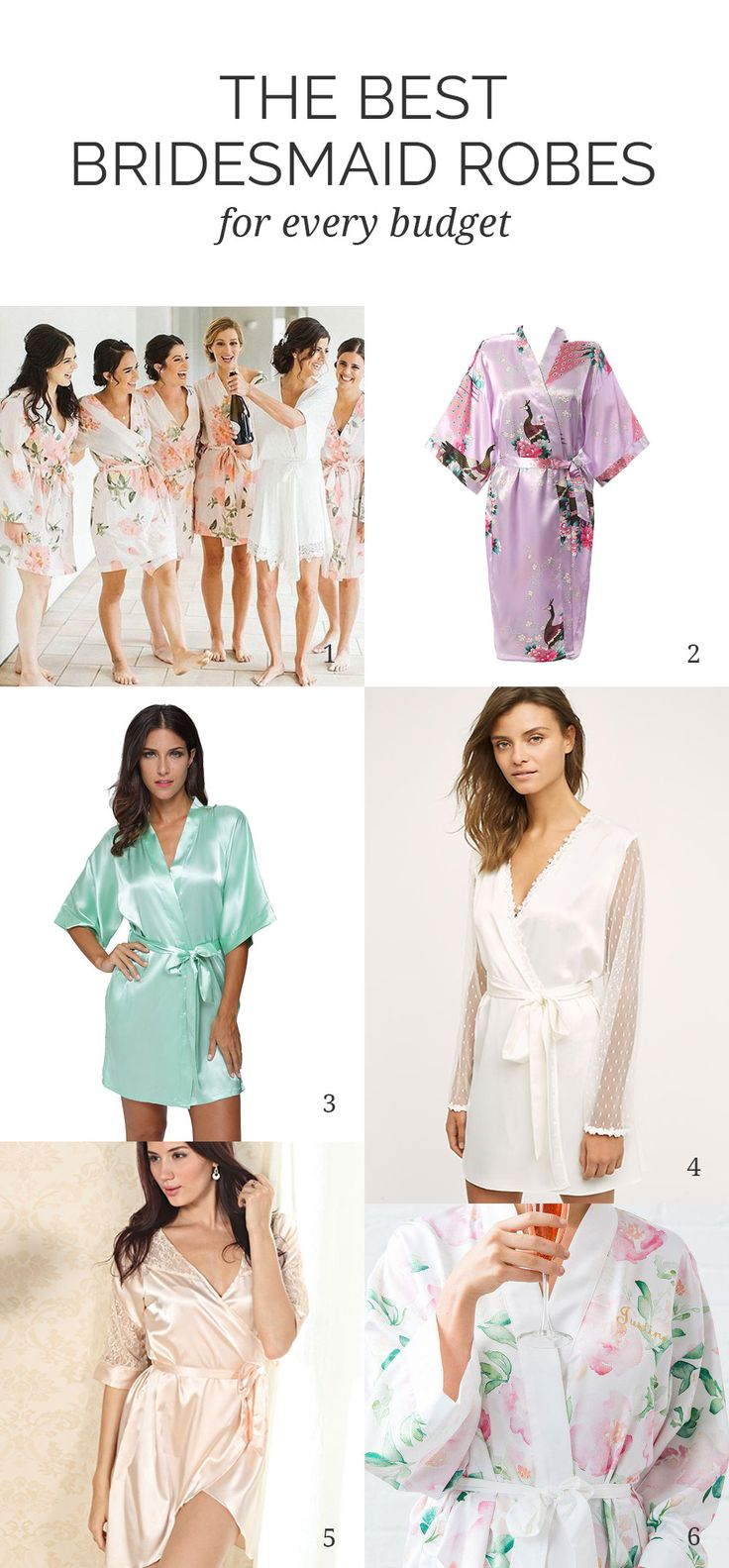 Are you looking for the perfect gift for your bridesmaids? Here are our favorite bridesmaid robes for every style and budget