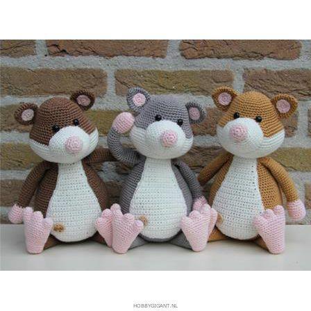 haakpatroon hamster familie Stip en Haak