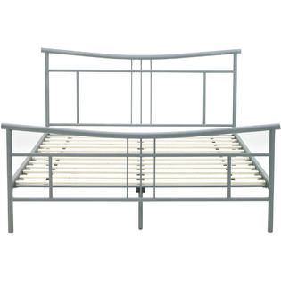 hanover contemporary hbedchel fl chelsea metal platform bed frame full metallic