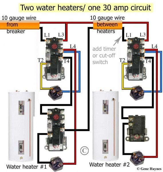 Electric Water Heater Thermostat Wiring | Water heater ...