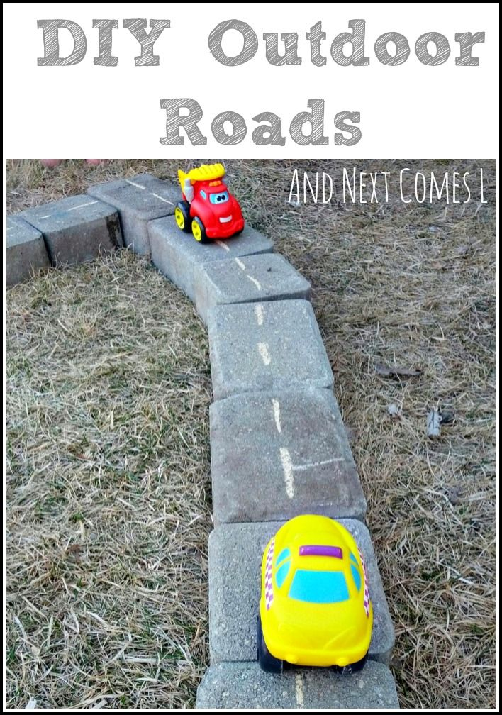 DIY outdoor roads for car play from And Next Comes L