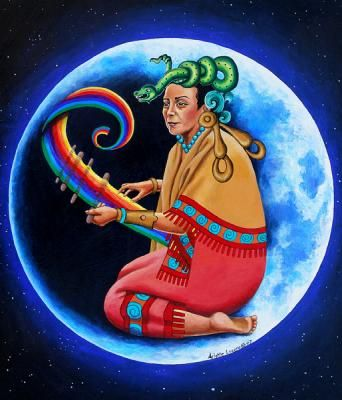 Ixchel - Artist Rendition of Mayan Goddess