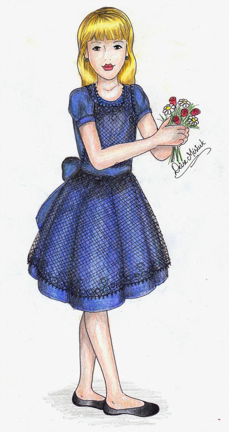 Cute Things: Fashion Design, Blue Dress, for girls - Design de ...