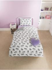 Kids Character Bedding: Unicorn Zebra Single Duvet Cover Set – Novelty-Characters