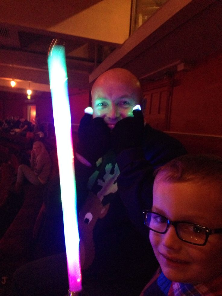 Laser sword & flashing gloves we bought for the little man at the pantomime