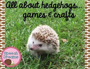 Hedgehog games and crafts