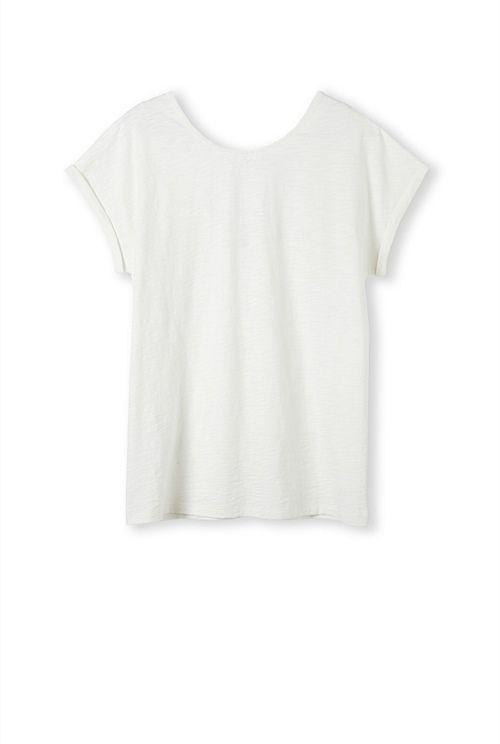 Woven Neck Trim T-Shirt