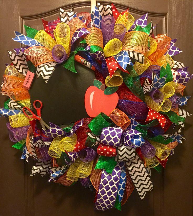 Teacher Wreath - Teacher Appreciation Week - Back to School Wreath