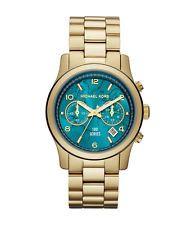 Michael Kors Women's Watch Midsize Hunger Stop 100 Turquoise New MK5815
