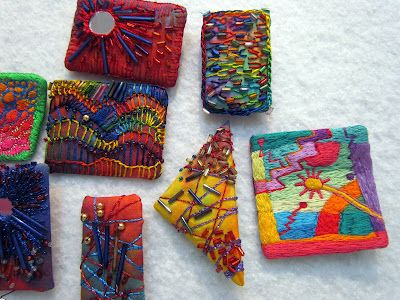 fiber artists images | Fiber Jewelry / Fiber art pins by Melody Johnson