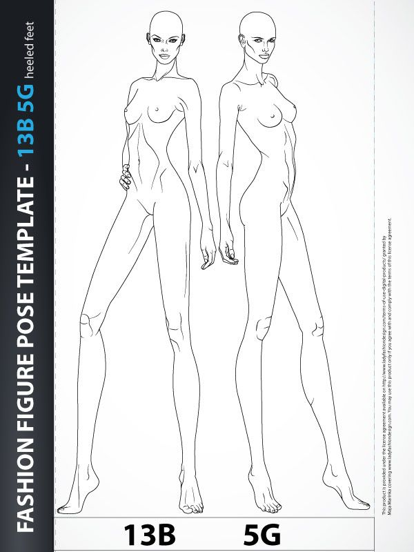 Fashion Figure Template - Croquis
