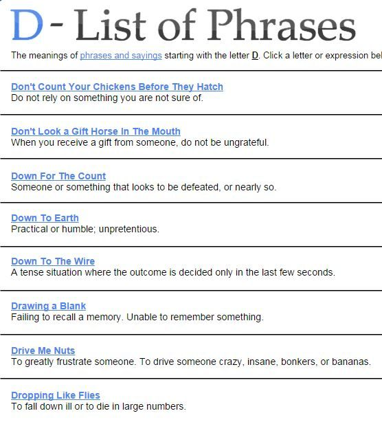financial idioms in origins and meaning 23 best phrases metaphors idioms images on 10