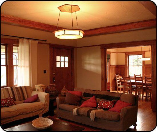 Customer Photo: Craftsman Chandelier in Living Room