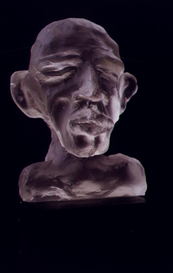Atul Bakshi,  Bald Boy. Cast Glass sculpture