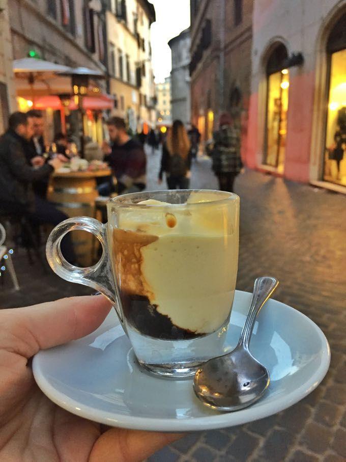 affogato di zabaione {fiocco di neve - rome} - Elizabeth Minchilli in Rome