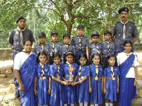 indian bulbuls brownies and cubs with adult leaders
