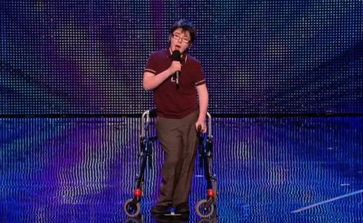 Cerebal palsy is hilarious, according to this 14 year-old comedian featured on 'Britain's Got Talent'