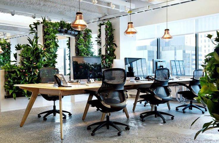 Office I Furniture I McCann Office I Design Research Studio I Blow Light Copper Lighting by Tom Dixon