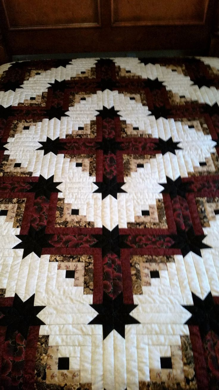Lancaster County Amish Handmade Queen Quilt - Colorado Star #390 by AmishHiddenTreasures on Etsy