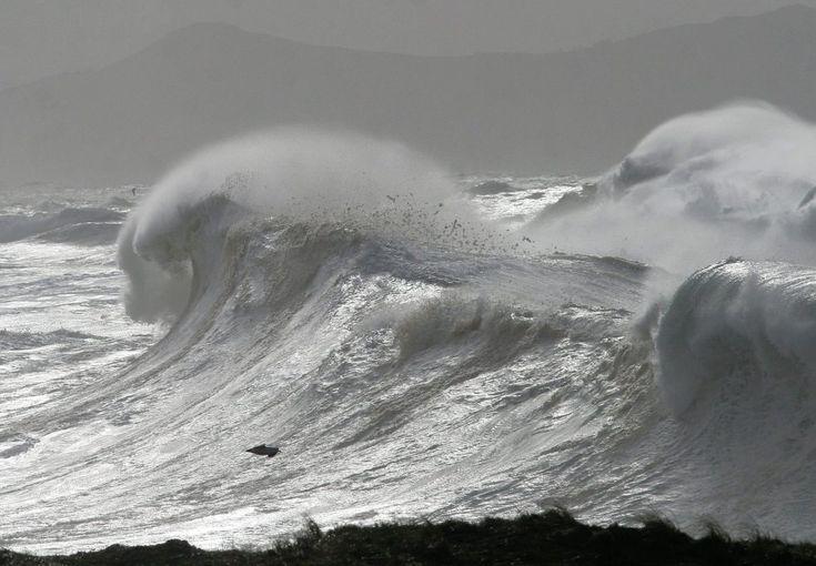 Temporal en el norte de la Península .Valdoviño- costa de La Coruña