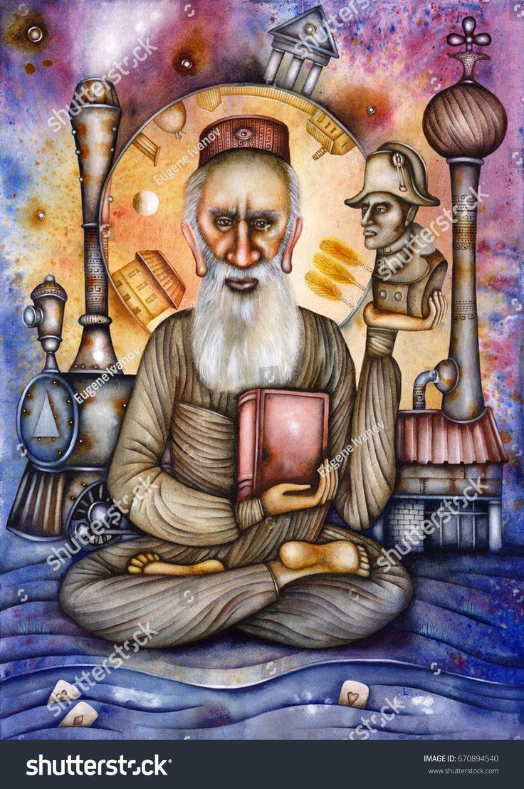 Leo Tolstoy - caricature of the Russian writer. 1828 - 1910. By Eugene Ivanov #eugeneivanov #anna_karenina #caricature #cartoon #death_of_ivan_ilyich #leo #literary_arts #literature #nonviolent #russia #russian_writer #tolstoy #war_and_peace #@eugene_1_ivanov