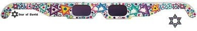 """Gemini Specs Glasses Star of David: See All the World Through """"Jewish"""" Eyes! by Gemini. $2.95. These unique holographic glasses let you see a Star of David when looking at bright points of light. They work well with city lights, candles and fireworks. Does not work when looking at Fluorescent lamps or bulbs or lighting. Entertaining and fun for any party, holiday celebration(Chanukah!) or other occasion."""