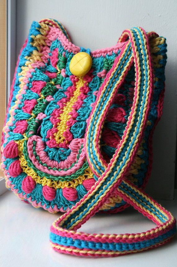Crochet pattern, crochet bag pattern, crochet color bag pattern, granny crochet bag pattern #crochetpattern #crochetbag