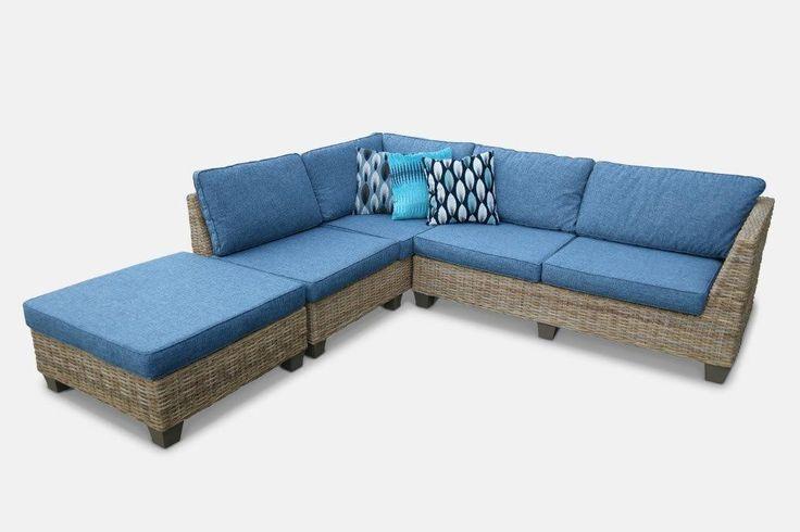 Coastal Modular Corner Lounge w/ Chaise from The Furniture Shack