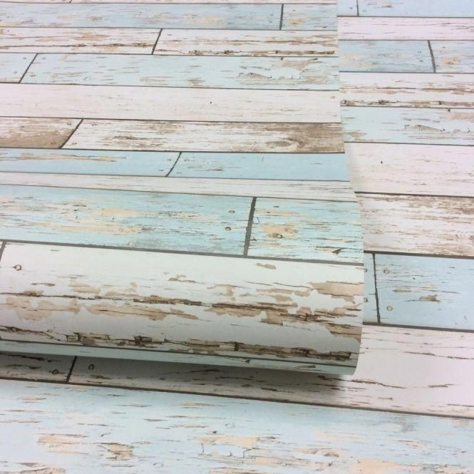 Rustic Wooden Plank Wallpaper Natural