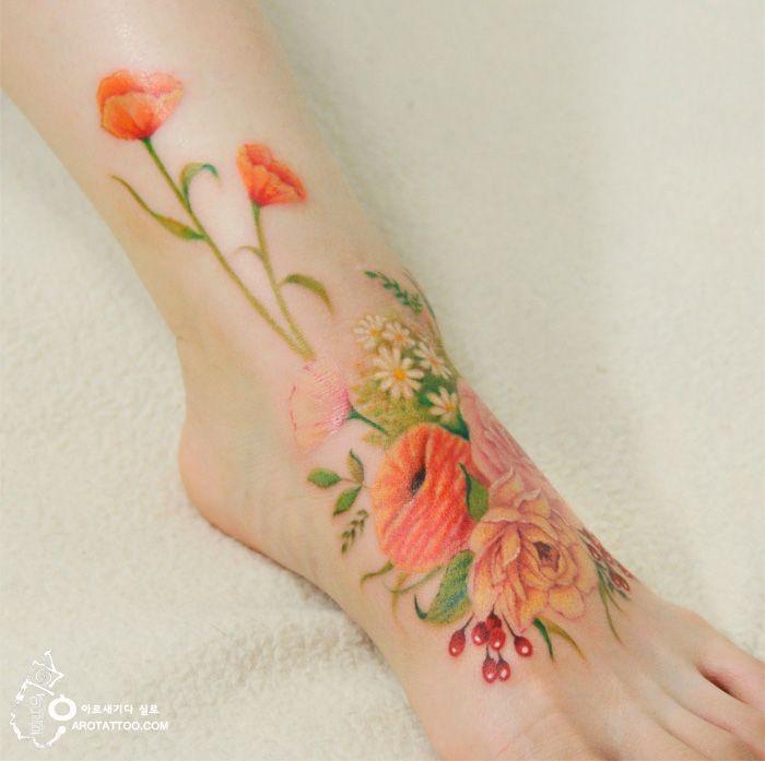 Les Tatouages fleuris de Silo qui ressemblent à des Aquarelles (6)